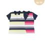 Camiseta Polo Pique Listrado Upiuli Feminina