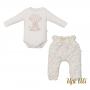 Conjunto de bebê Body C/ Culote Soft Comfort/Jacquard Belinha O/I