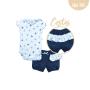 Conj. Body C/Shorts Suedine Liso/Suedine Estampado Laços (5)