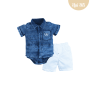 Conj. Body Camisa Chino/Jeans Upiuli Baby