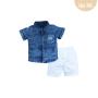 Conj.  Camisa Jeans/Chino Upiuli Boy