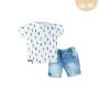 Conj. T-Shirt Meia Malha/Jeans Numbers Boy