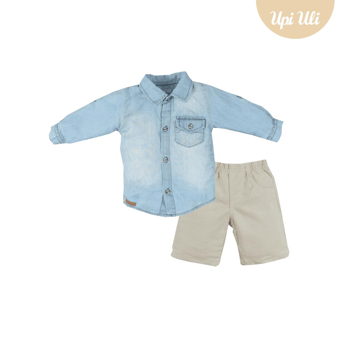 Camisa Linho/Jeans Upiuli