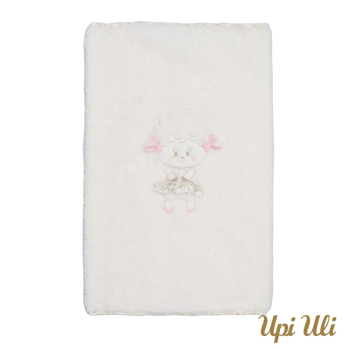 Cobertor de bebê Pele Pecorino/Meia Malha Belinha  O/I