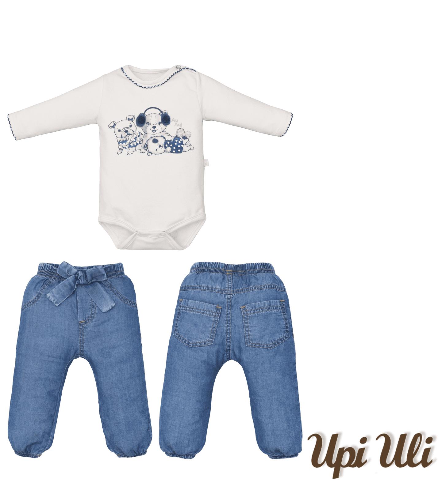Conj. Body C/ Calça Soft  Comfort/Jeans Amiguinhas
