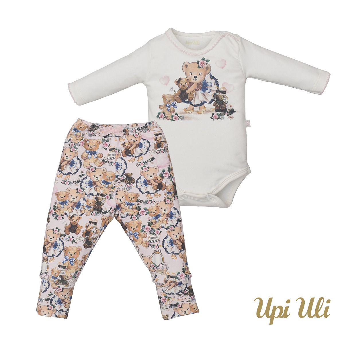 Conjunto de bebê Body C/ Culote  Soft Comfort Vânia O/I