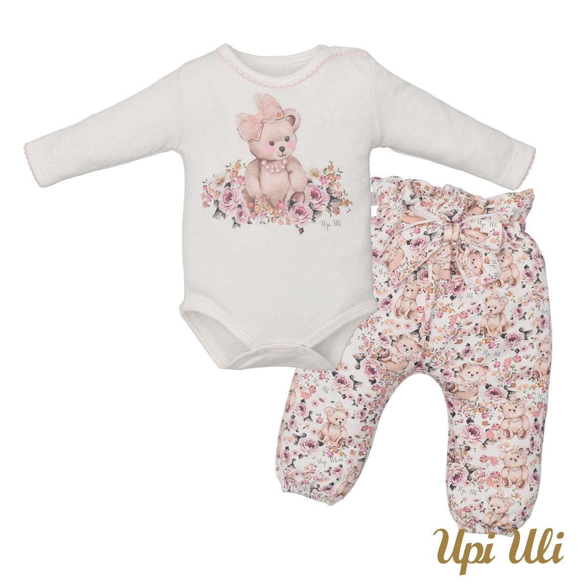 Conjunto de bebê Body  C/ Culote  Suedine  Maraiza O/I