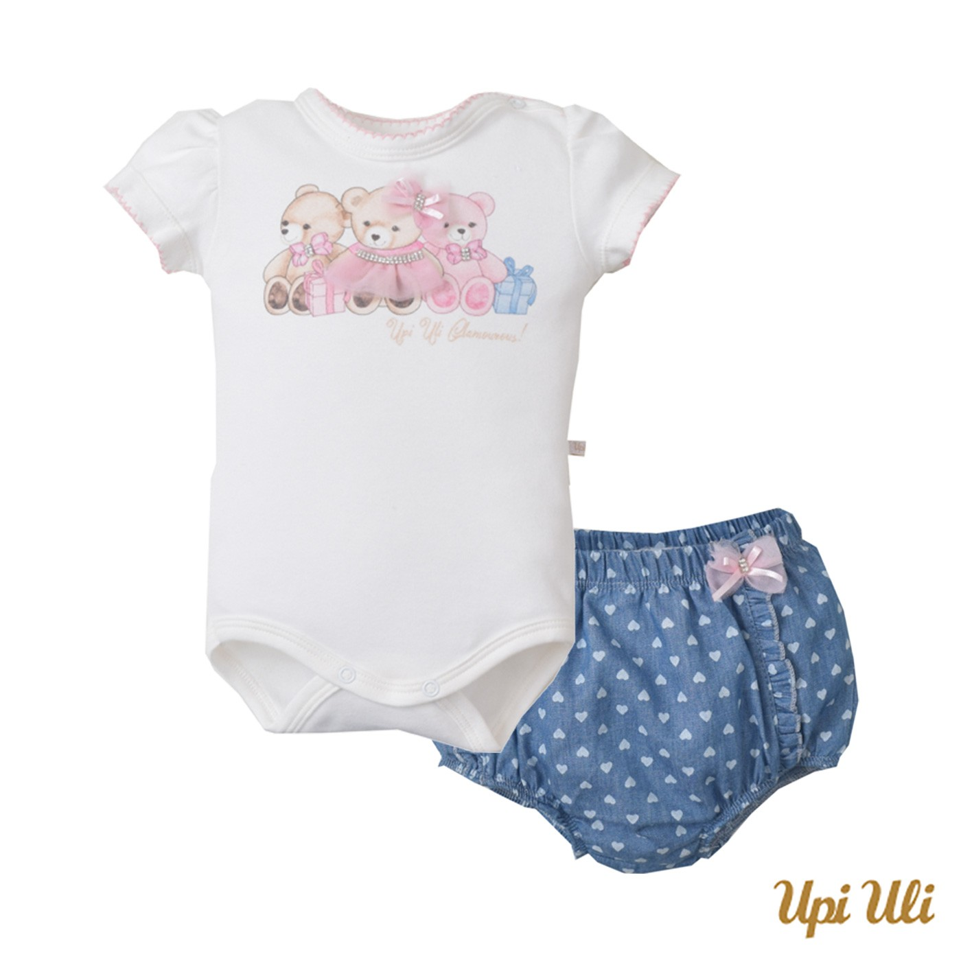 Conj. Body C/ Shorts Suedine/Jeans Ursinhas (9)