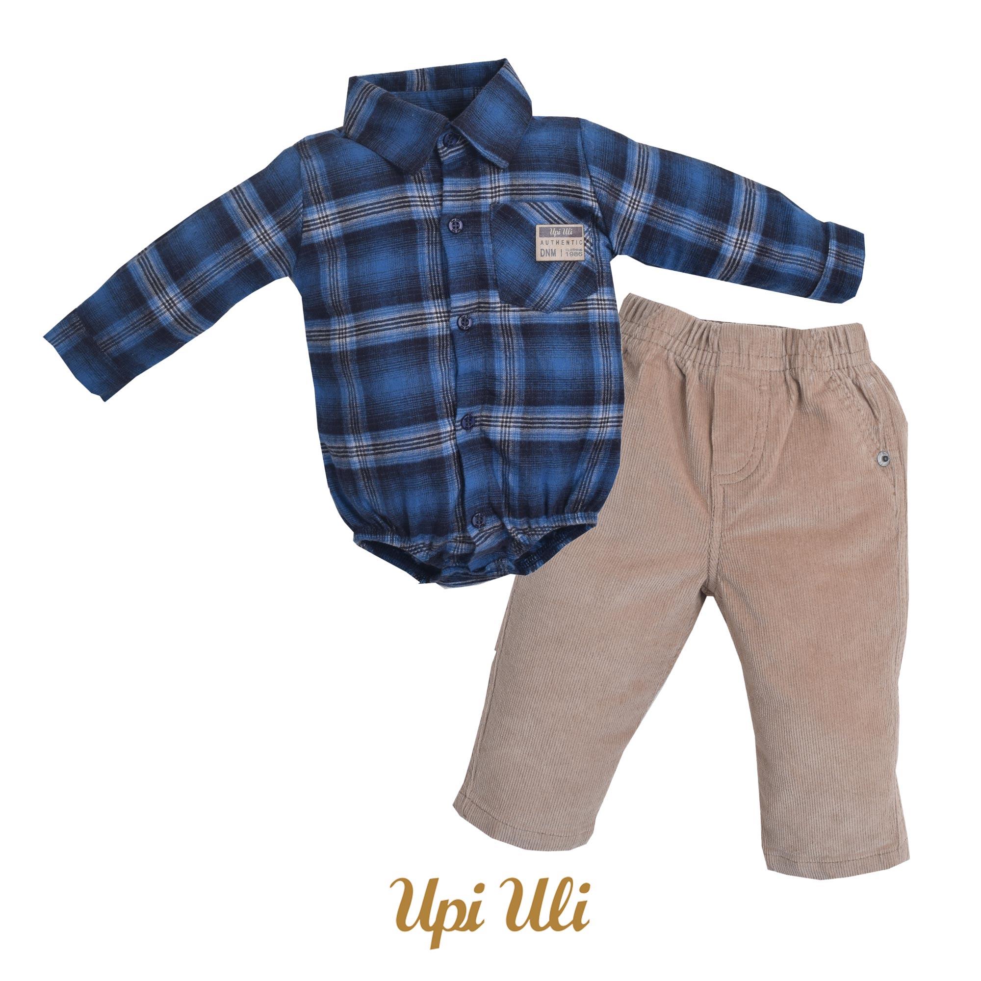 Conj. Body Camisa Veludo/Serrana Plus Aviador