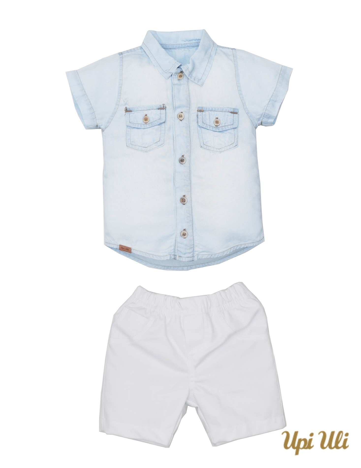 Conj. Camisa Jeans/Compact Cott Eduardo
