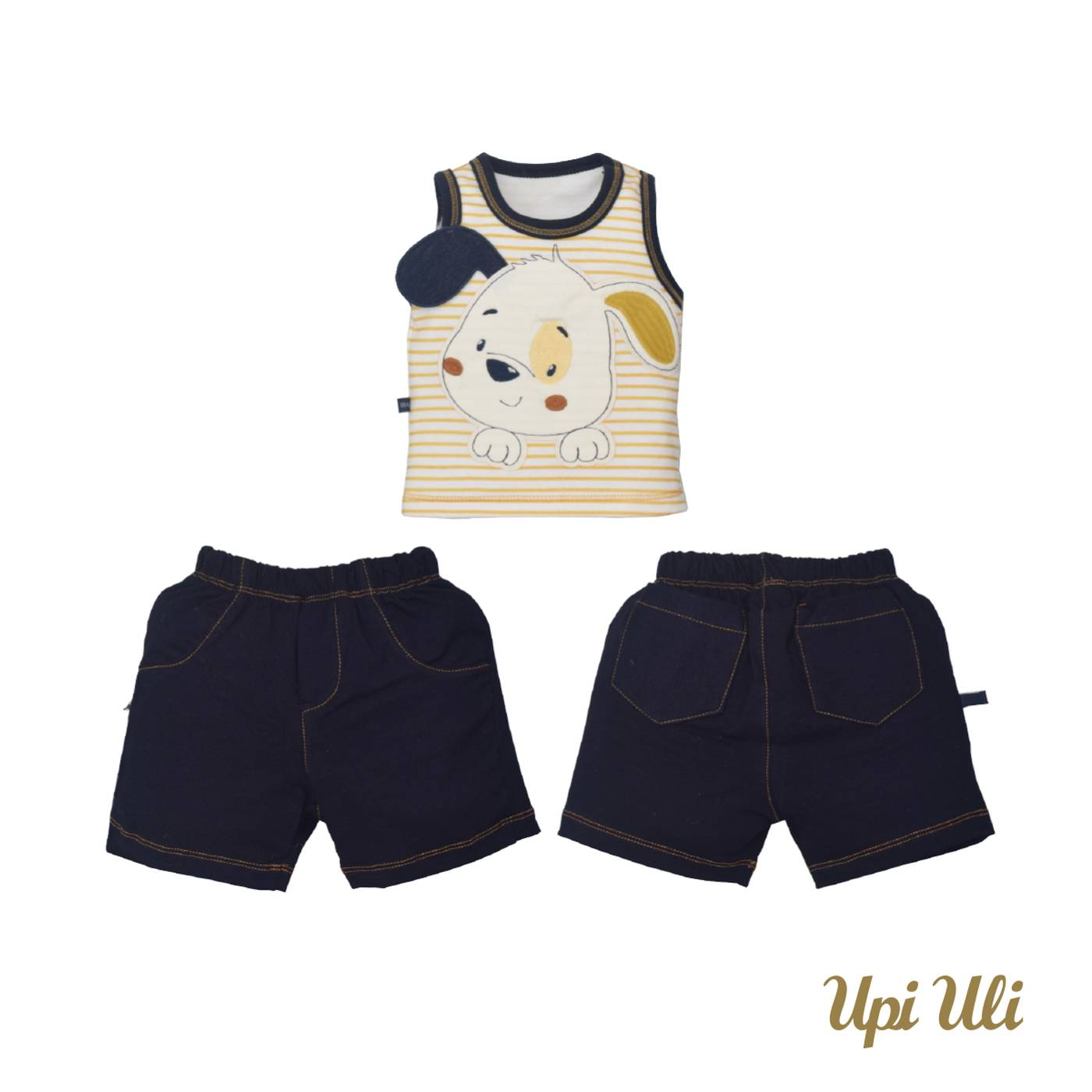 Conj. De Bebê Regata C/ Shorts Suedine/New Vanize Andre