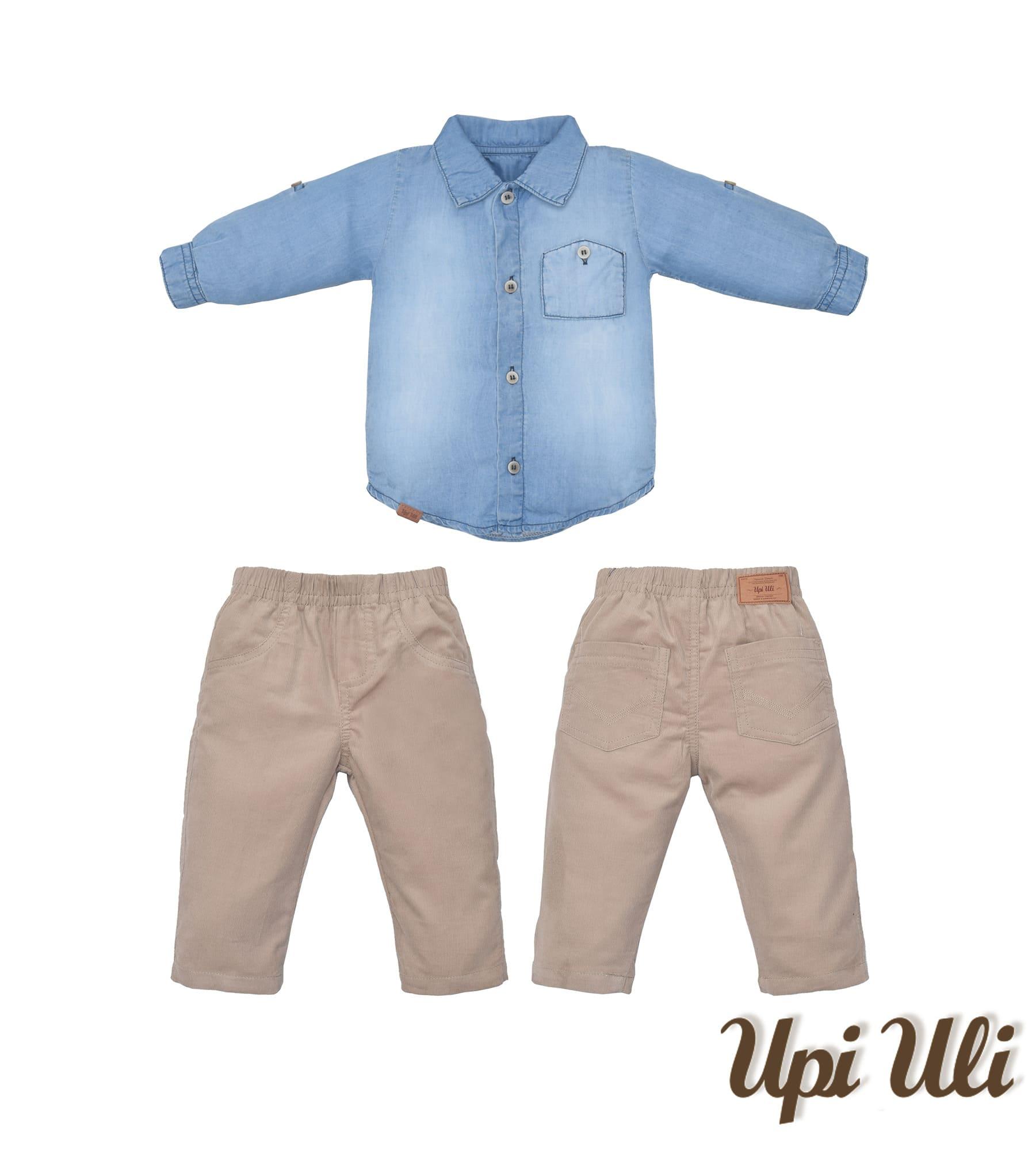 Conj. Longo Jeans/Cotele  Upiuli