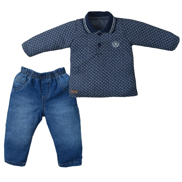 Conj. Longo Jeans/Malha Lennon Upiuli