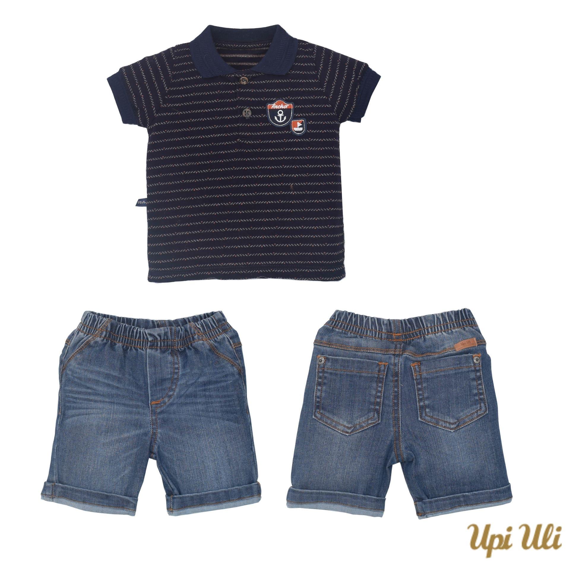 Conj. Polo Malha/Jeans José