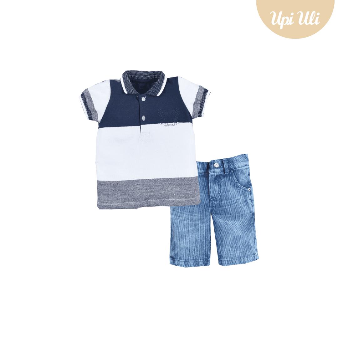Conj. Polo Pique/Jeans Tennis  Boy