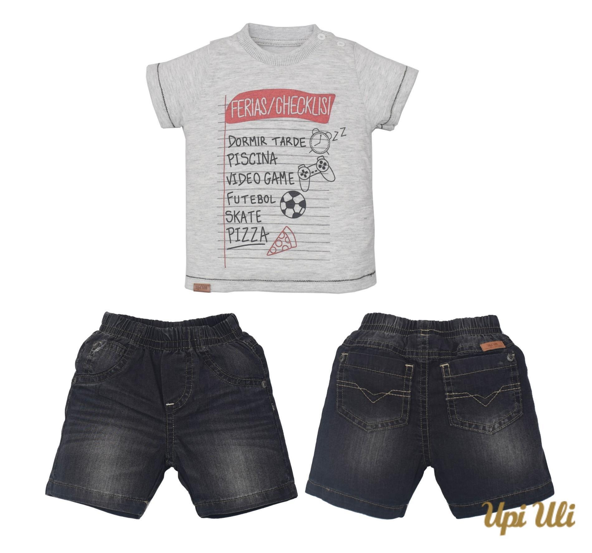 Conj. T-Shirt Meia Malha/Jeans Erick