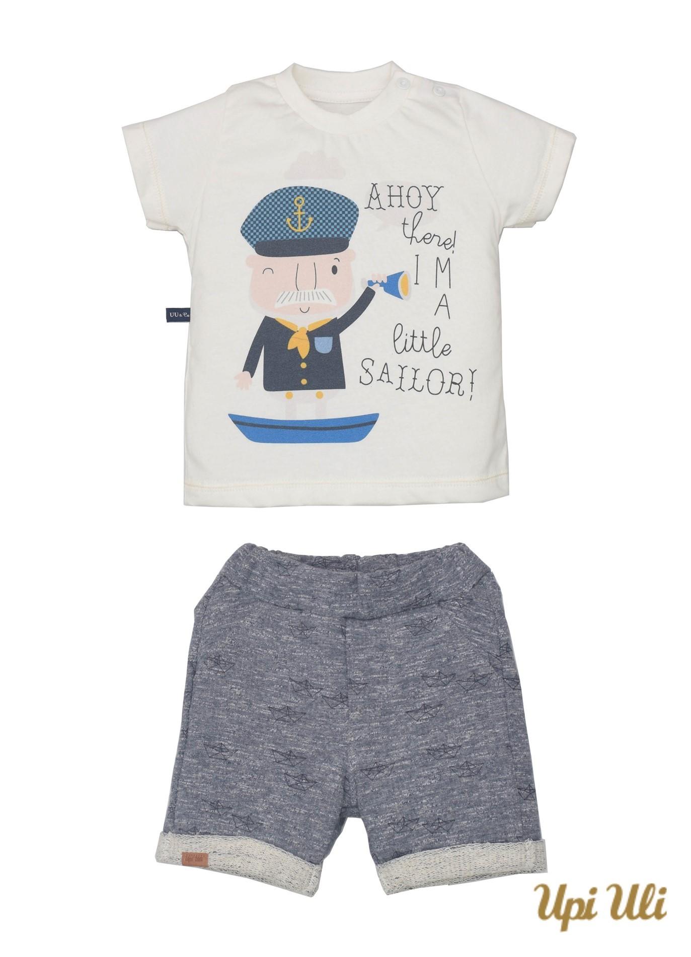 Conj. T-Shirt Meia Malha/ Moletom Field Adriano