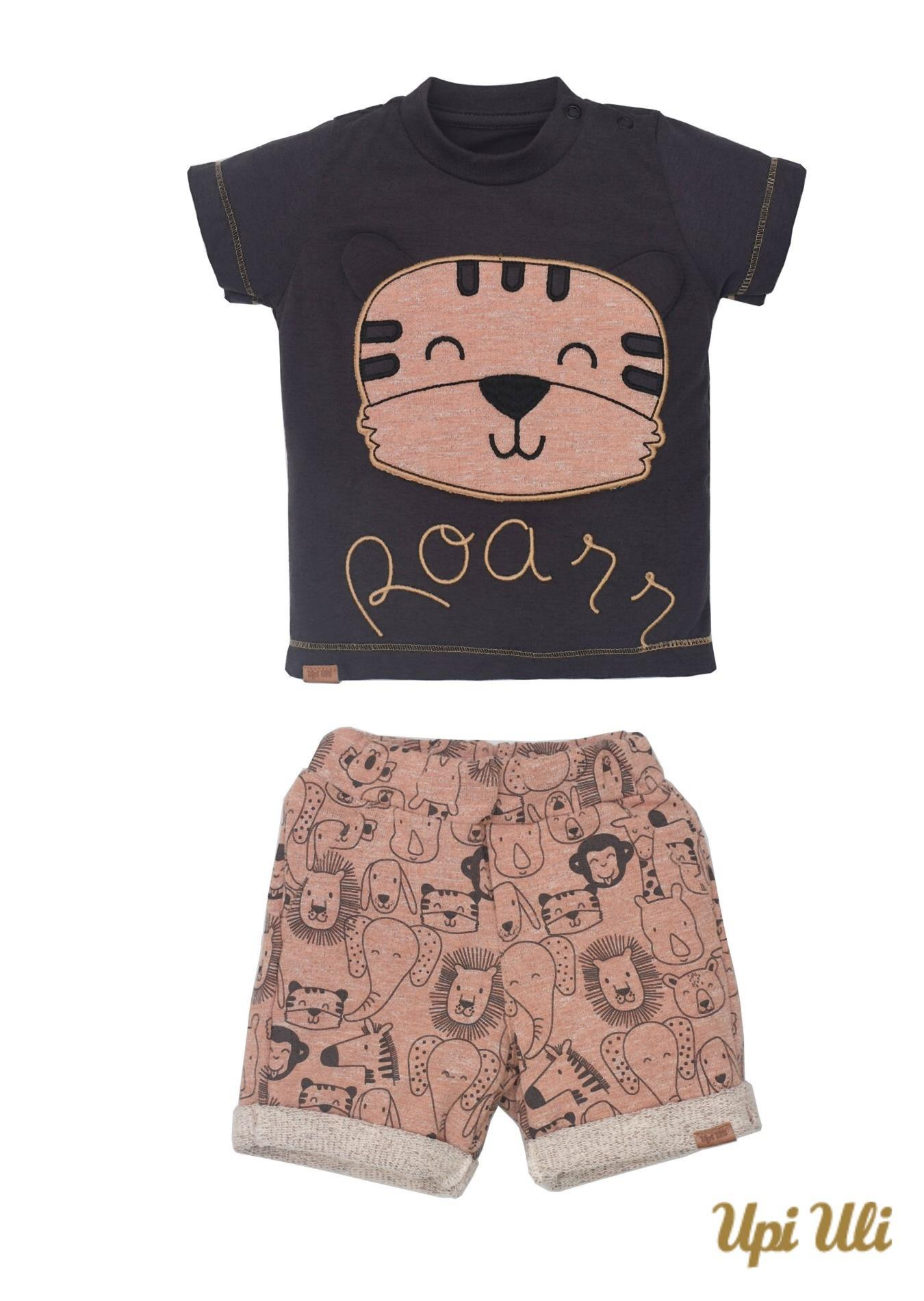 Conj. T-Shirt Meia Malha/Moleton Field Oliver