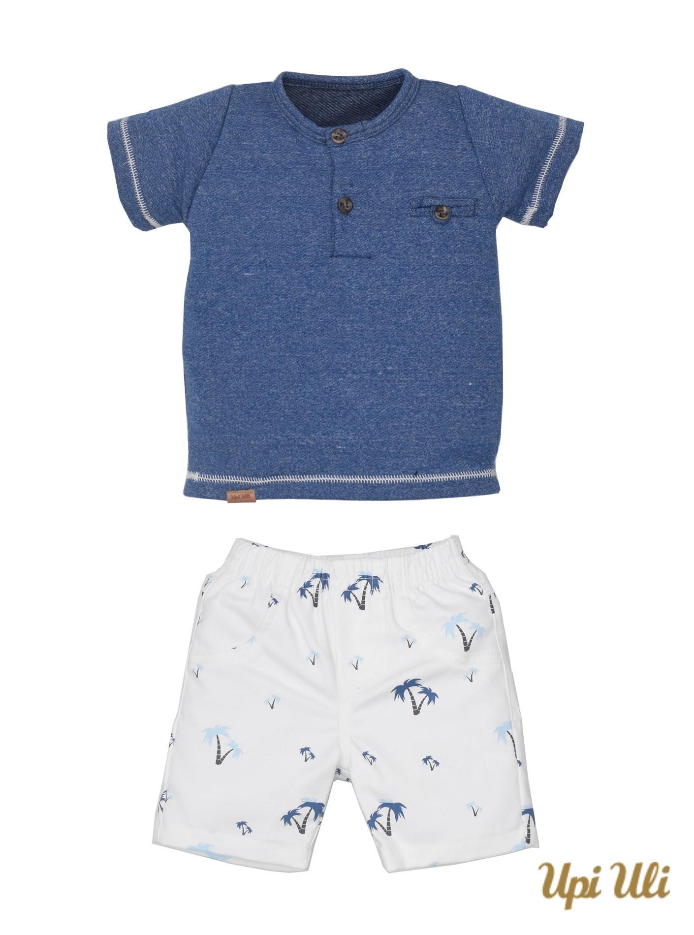 Conj. T-Shirt Moletinho Mars/Compact Cott Span Hiago