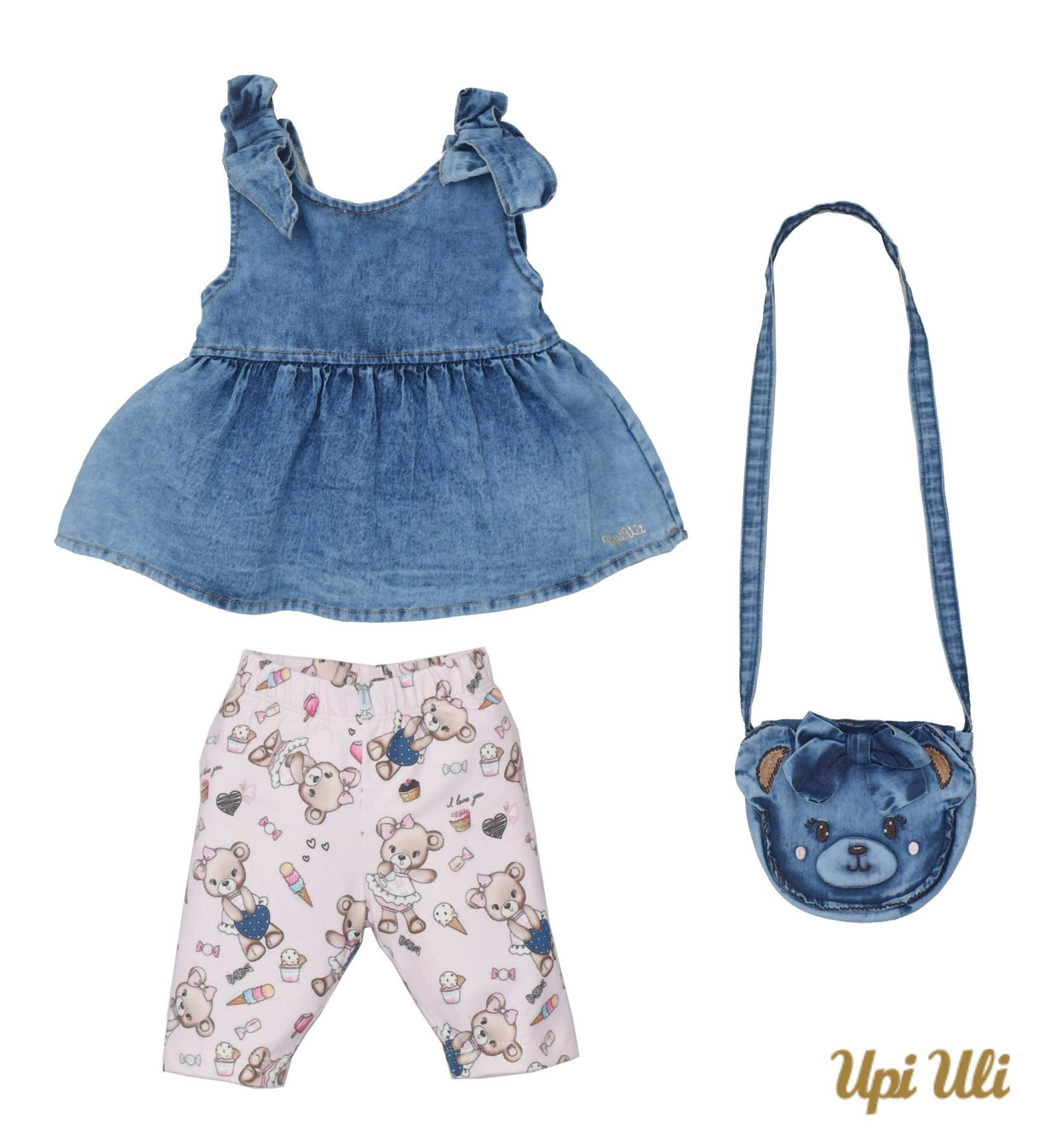 Conjunto Curto Cotton/Jeans Cecilia