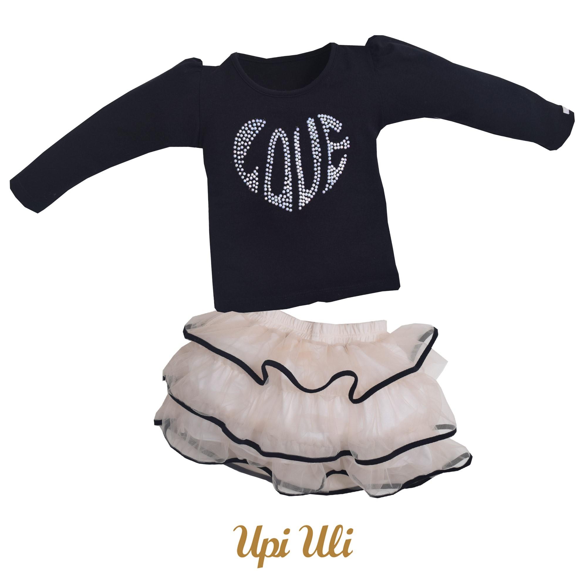 Conjunto Longo Cotton/Tule Love