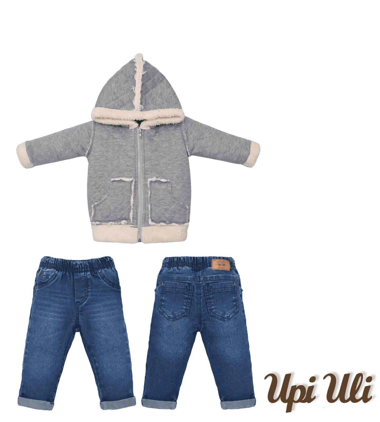 Conjunto Longo Jeans/Matelasse Upiuli