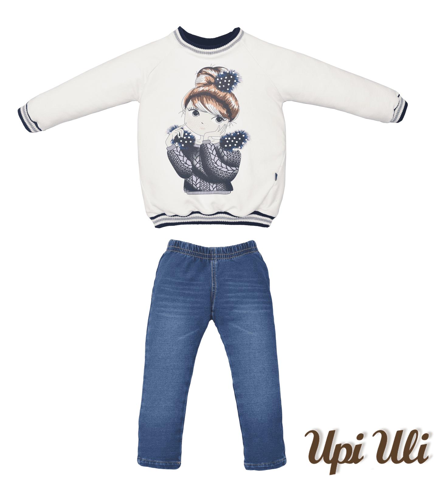 Conjunto Longo Jeans/Soft Comfort Menina