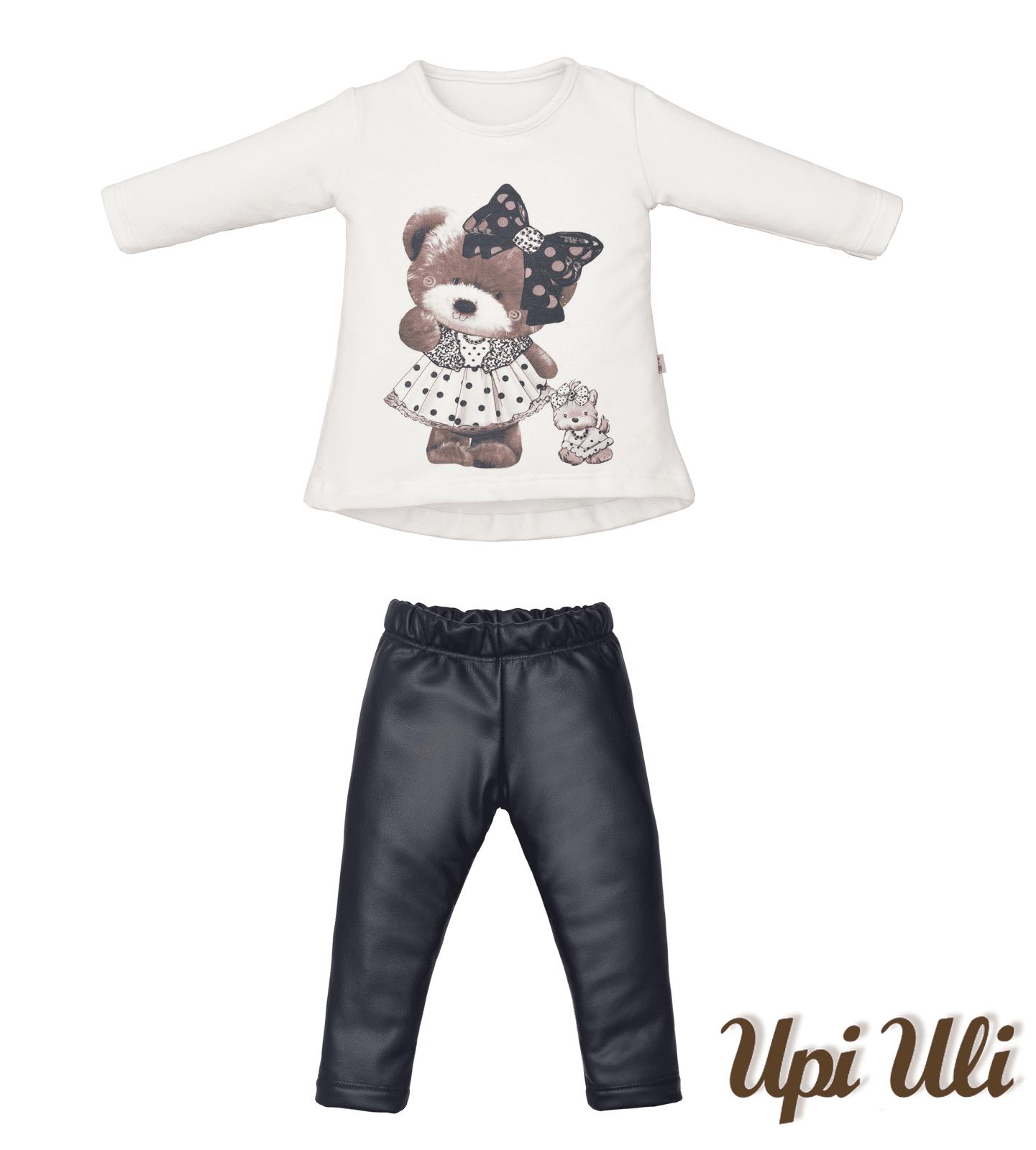 Conjunto Longo Malha Plush C/Leather/Soft Comfort Ursinhas