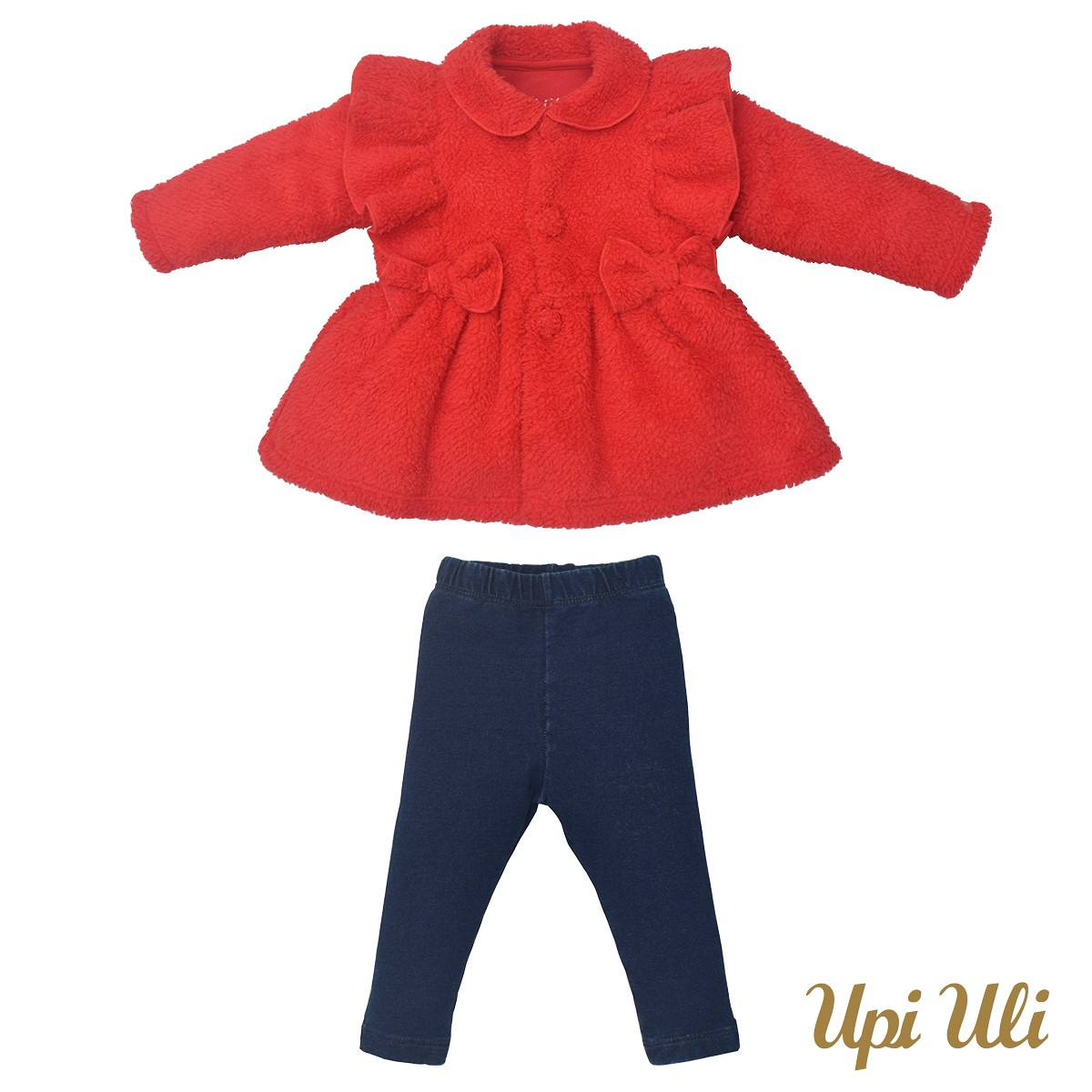 Conjunto infantil  Longo Pelucia / Jeans Vitoria O/I