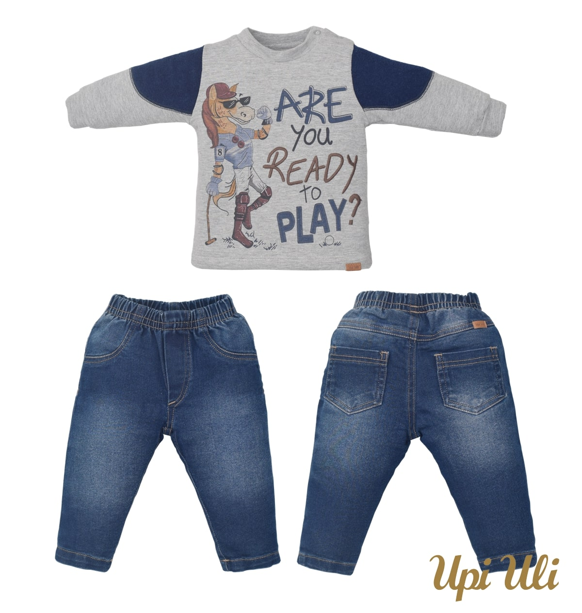 Conjunto de bebê Longo Plush Buckle/Soft Comfort/Jeans Icaro O/I