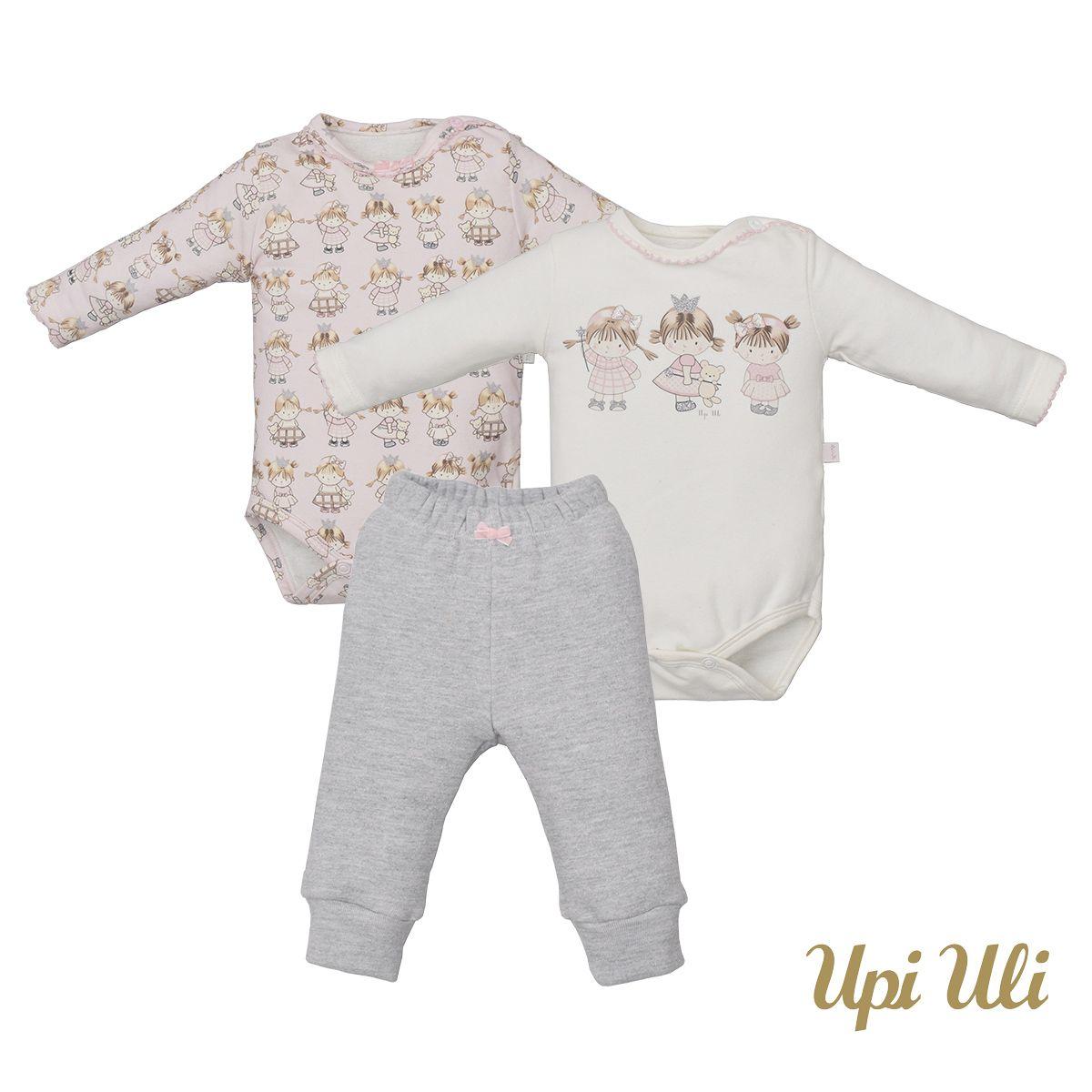 Kit Bebê 2 Bodys C/ 1 Culote Soft Comfort/Plush Nuvem Ana Julia