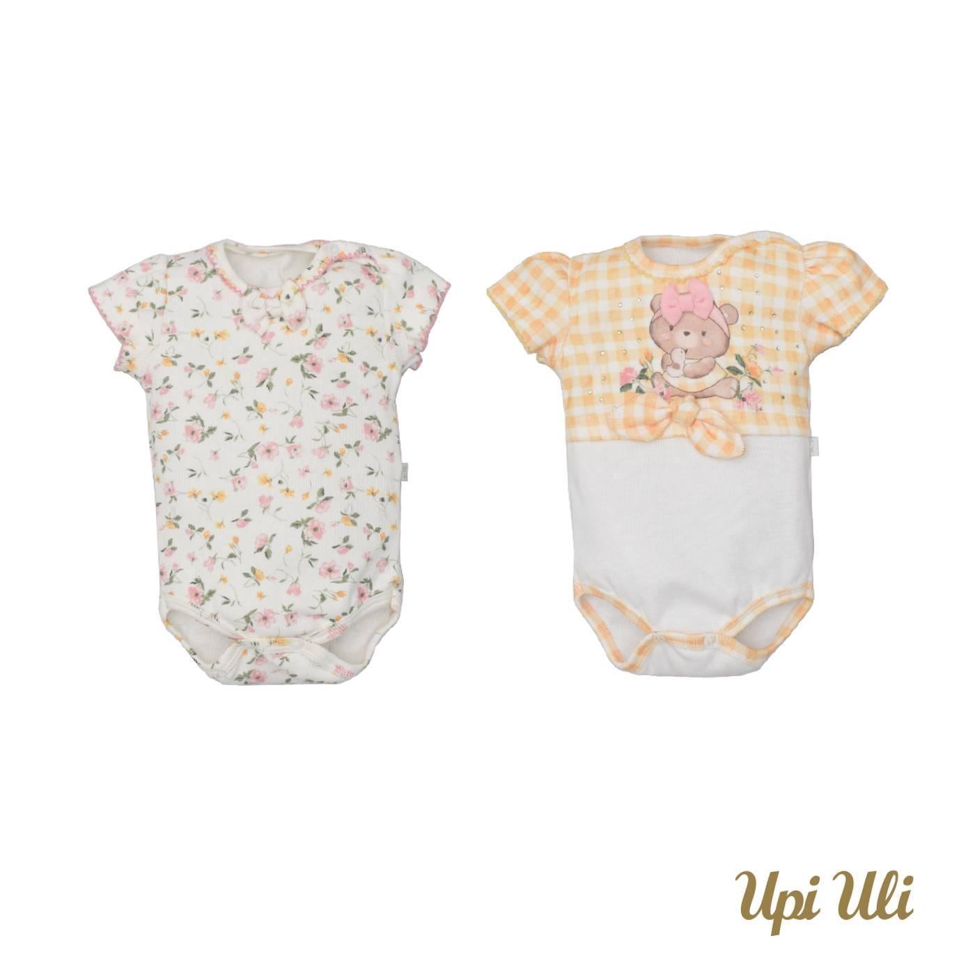 Kit De Bebê Body 2 Peças Ribana Comfort Moni Aninha