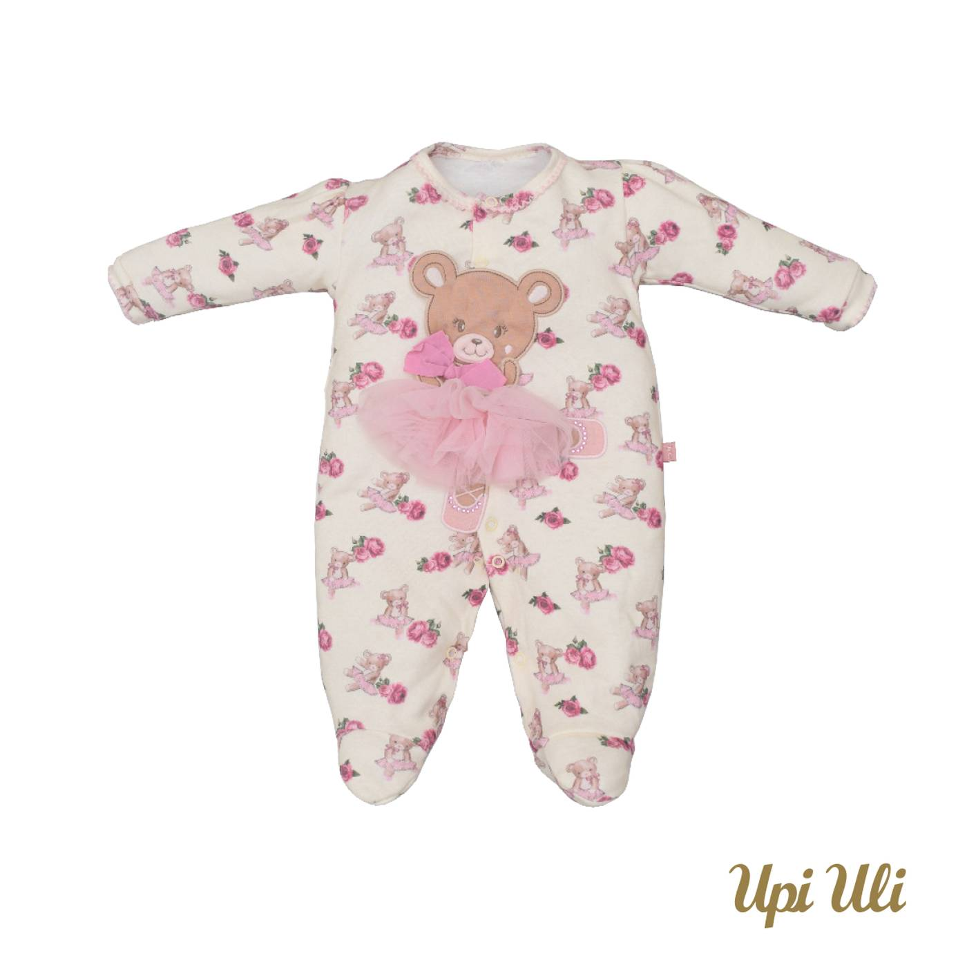 Macacão de bebê Suedine  Leticia  P/V