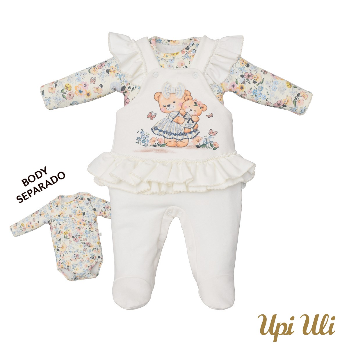 Macacão De Bebê Suedine/Ribana Moni Alice