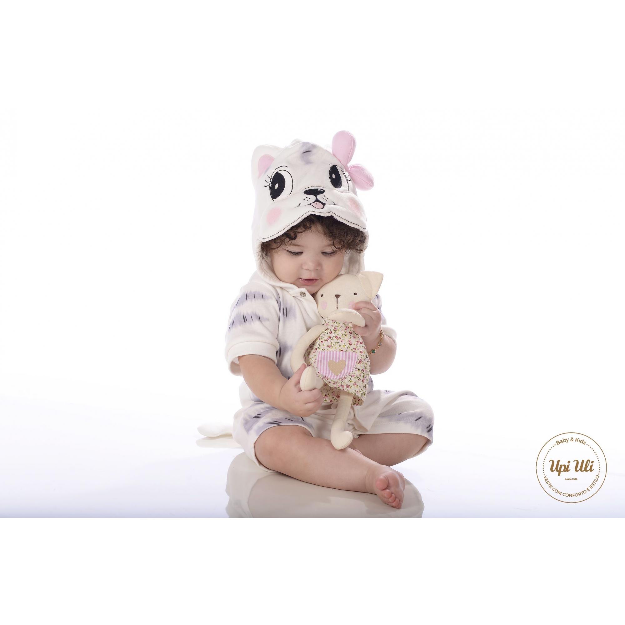 Macaquinho de bebê Suedine  Betina  P/V