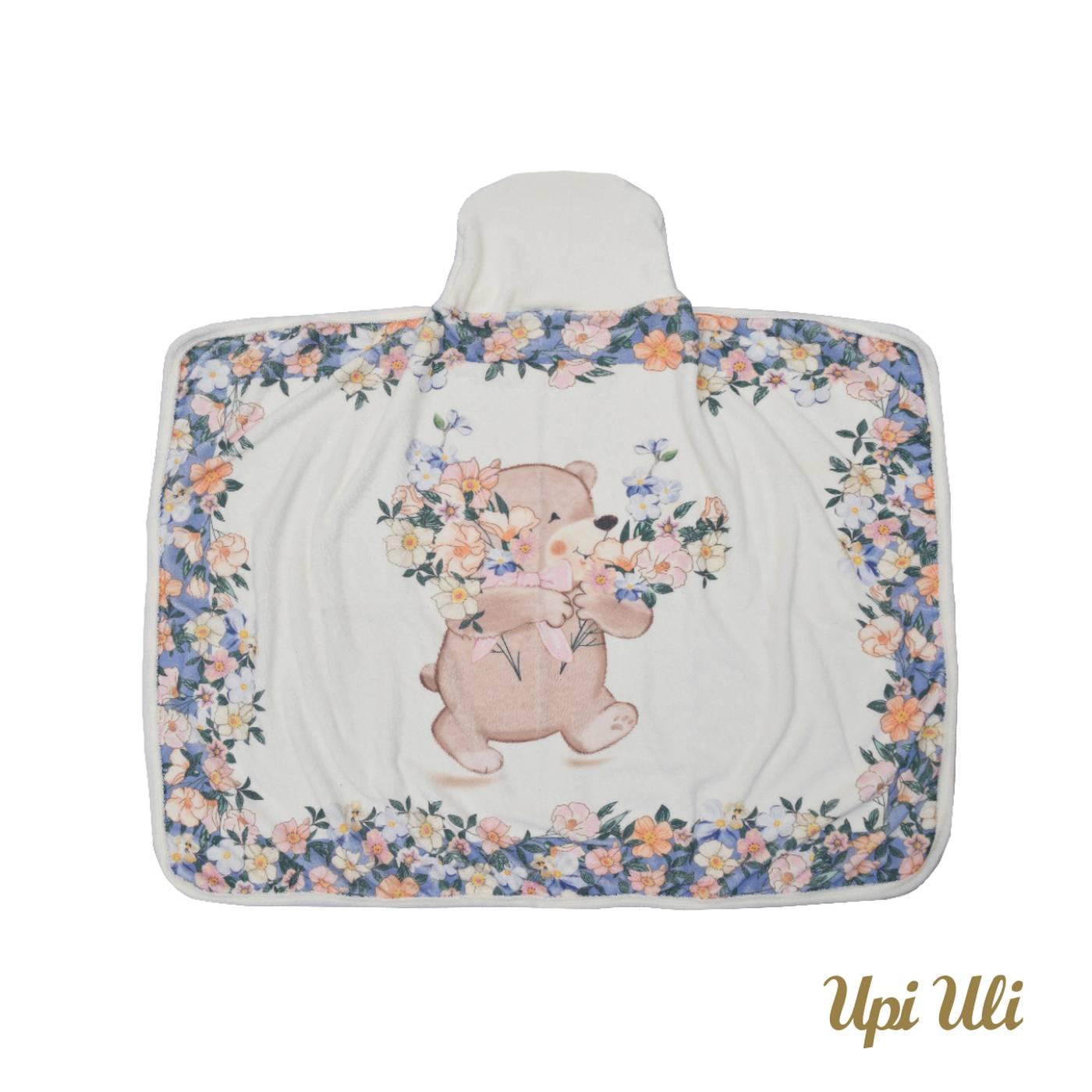Toalha de banho de bebê  C/ Capuz Carine P/V