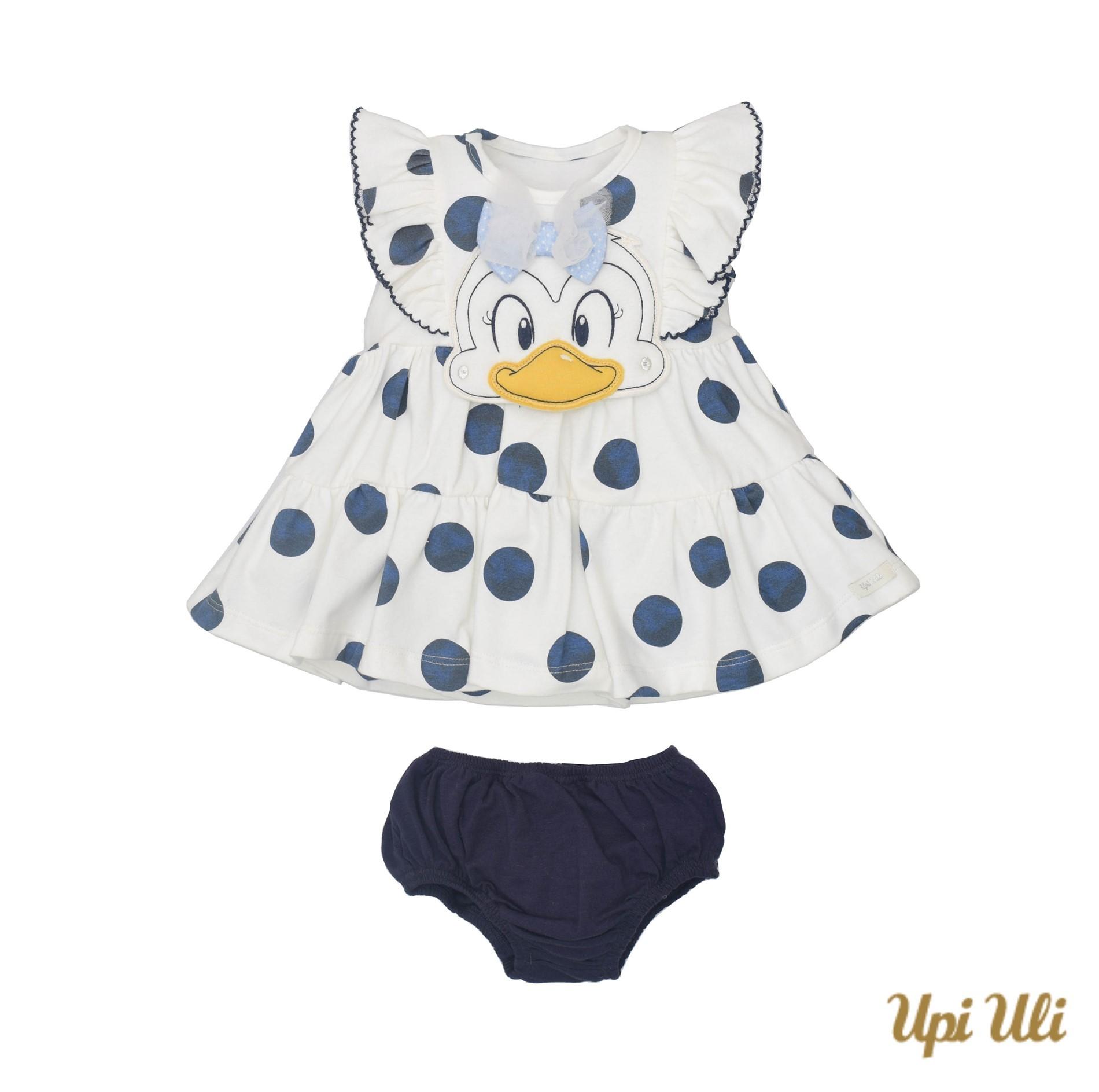 Vestido De Bebê C/ Calcinha Cotton Laura