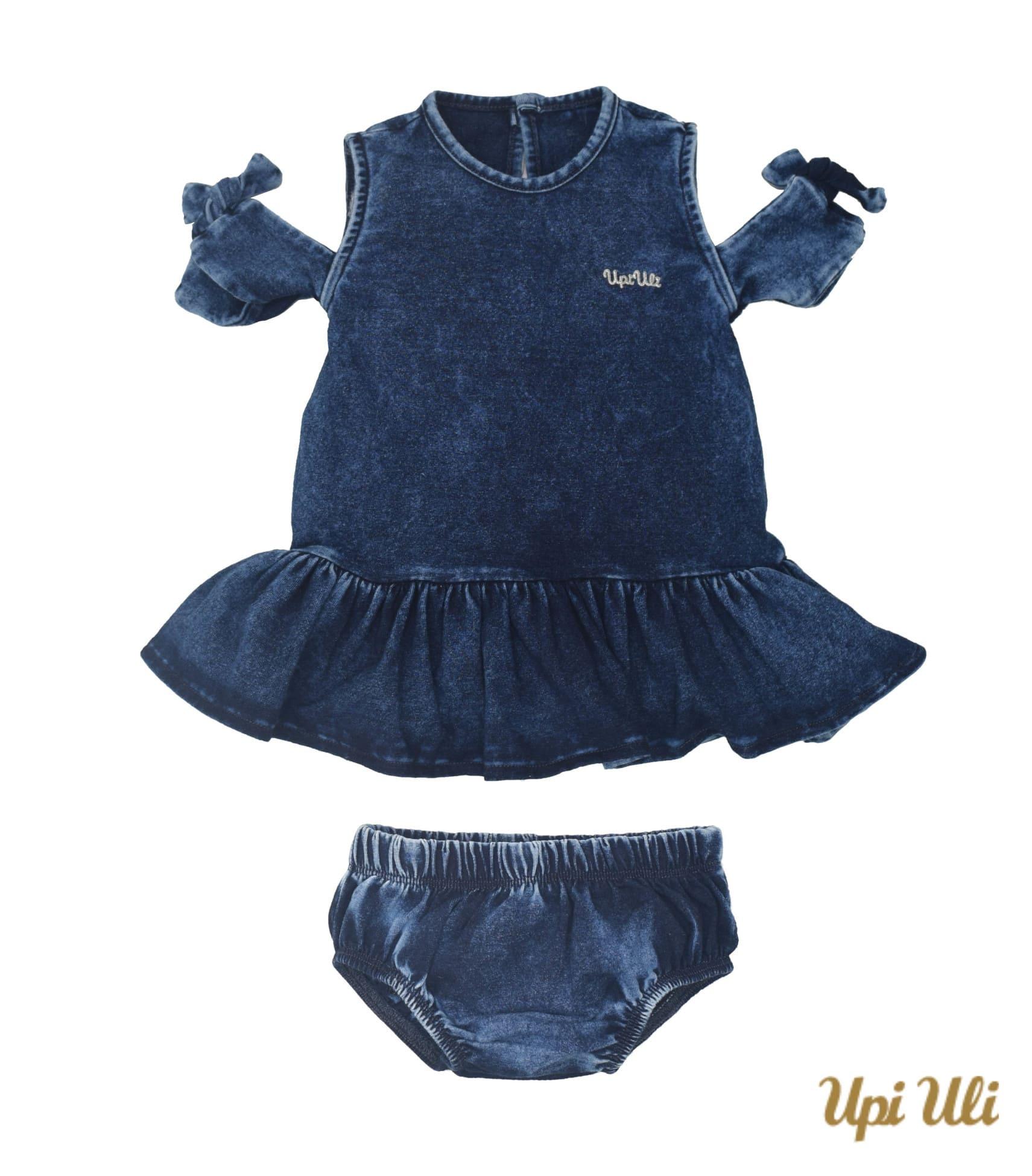 Vestido De Bebê Jeans Emily