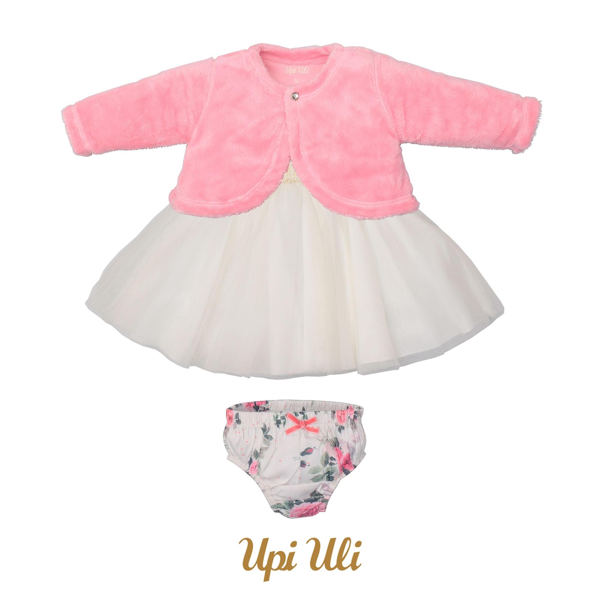 Vestido  Longo Caress/Cetim Italia Floral Baby