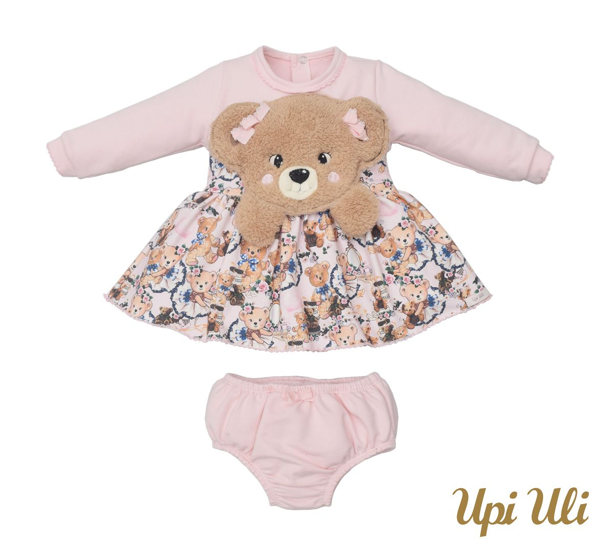 Vestido De Bebê Longo Soft Comfort  Vânia