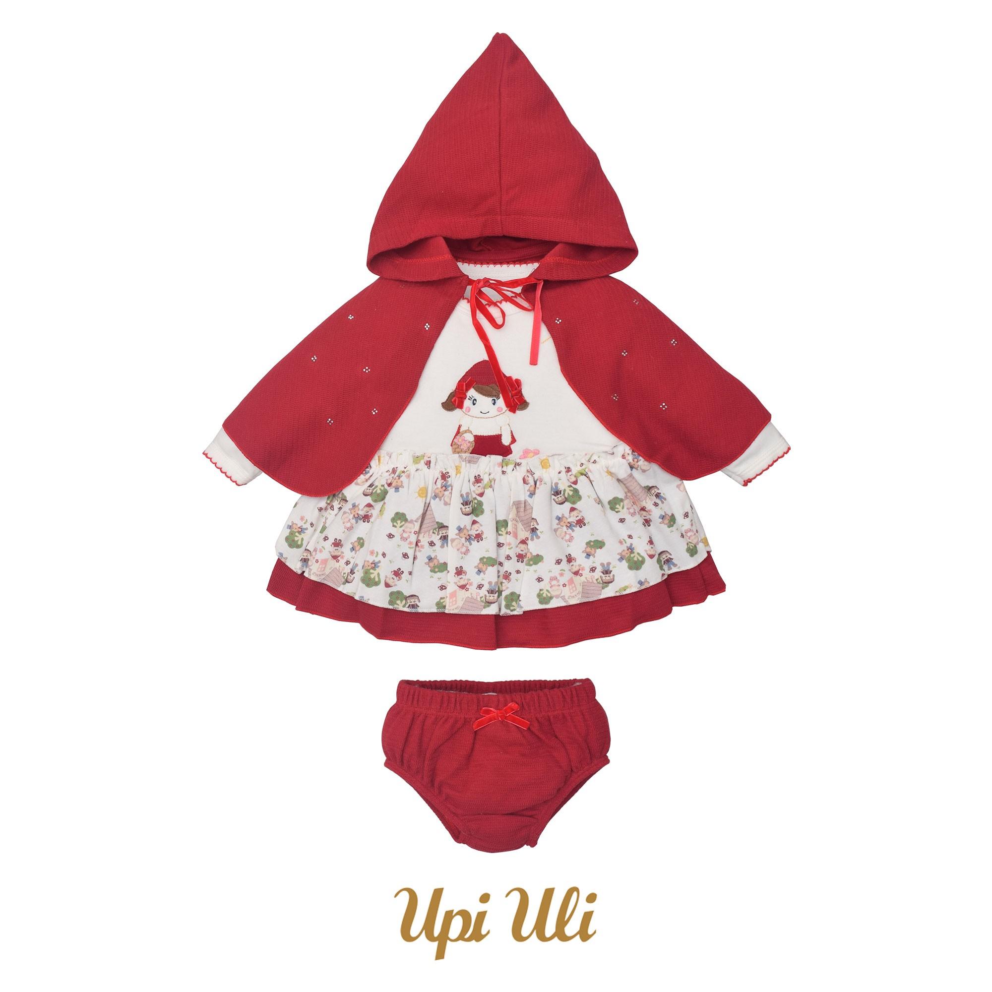 Vestido Suedine/Tricô Explorer Chapeuzinho Vermelho