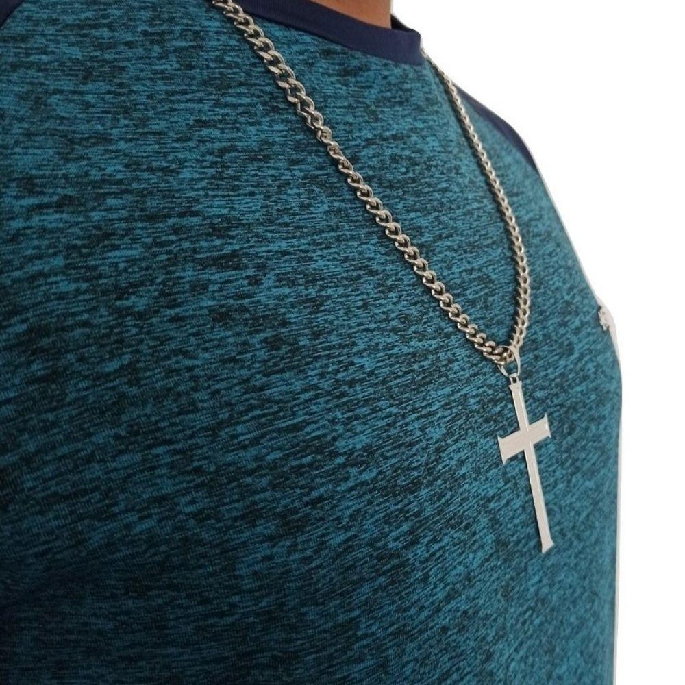 Conjunto Corrente com Crucifixo Masculino - Rellicari