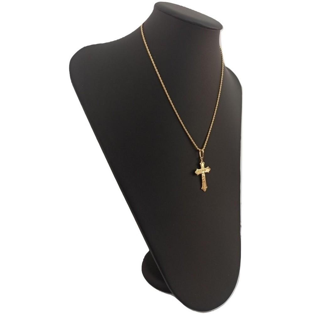 Cordão Com Crucifixo Banhado a Ouro 50 Cm - Rellicari