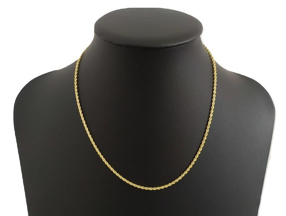 Cordão Rellicari Grosso Feminino 45 Cm Banhado  A Ouro C002