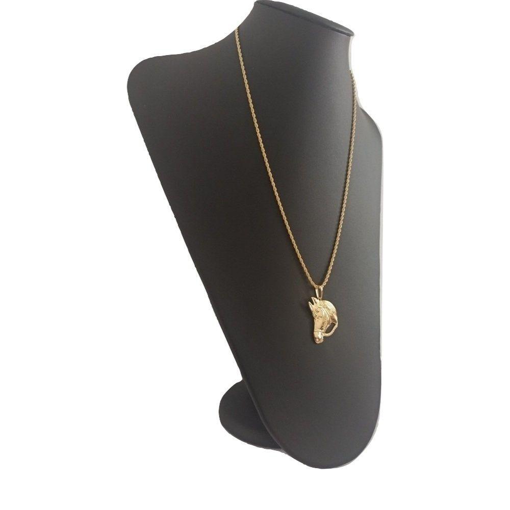 Corrente 50 Cm e pingente banhado a ouro 18k - Rellicari