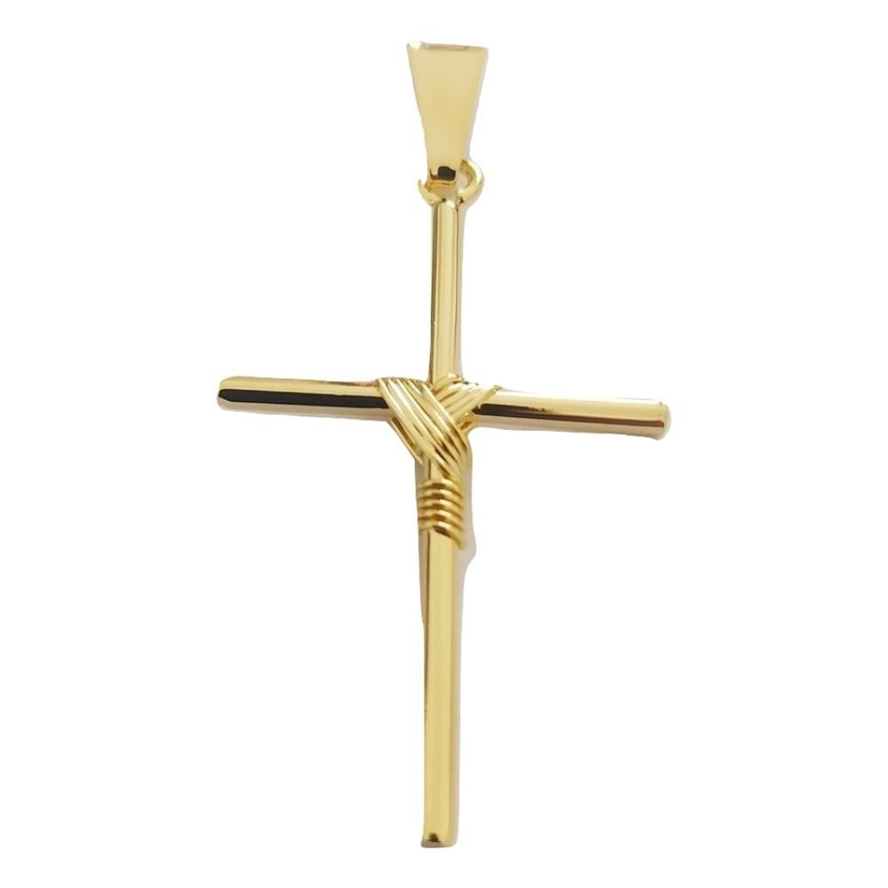 Pingente Rellicari de Cruz Palito Banhado A Ouro 18k R012