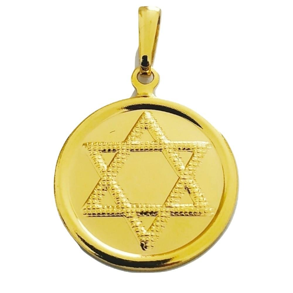 Pingente Rellicari Estrela de Davi Banhado A Ouro 18k R002