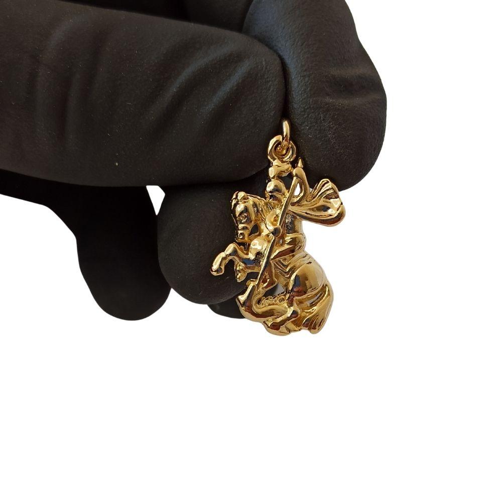 Pingente Rellicari Banhado a Ouro São Jorge R040