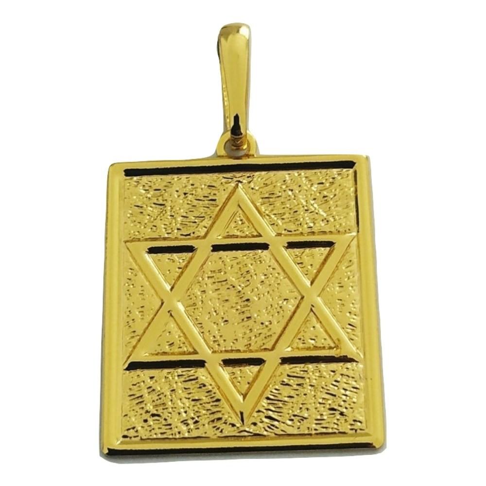 Pingente Rellicari Estrela de Davi Banhado A Ouro 18k R004