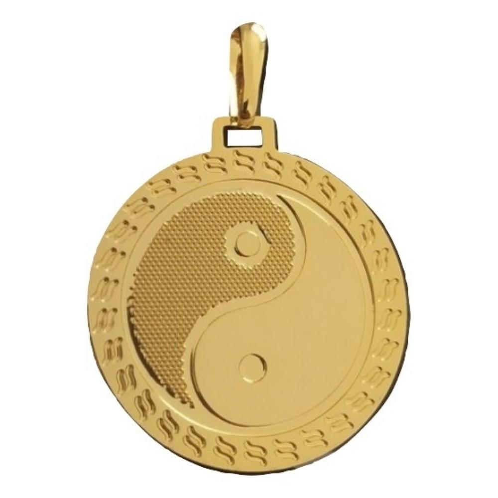 Pingente Rellicari Yin Yang Banhado a ouro 18k R016